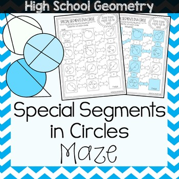 Special Segments in a Circle Maze