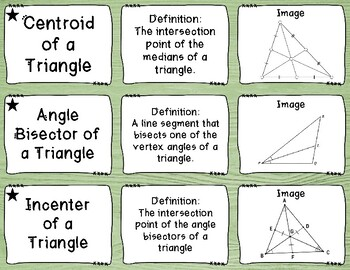 Special Segments of Triangles - Stack-em Up! Activity