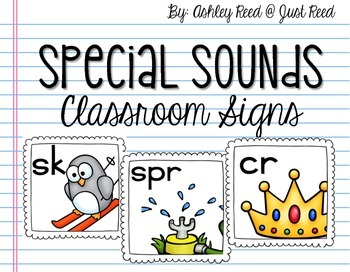 Special Sounds Class Decor : Blends, Digraphs, and Trigraphs