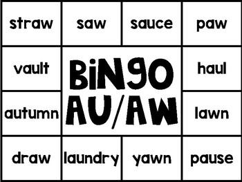 Special Sounds Solo Bingo