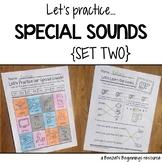 Special Sounds Worksheets {Set 2}