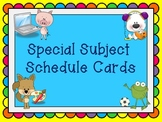 Special Subject Schedule Cards