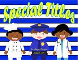 Special Titles- Proper Nouns Task Cards