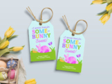 Special Treat Some Bunny Sweet Favor Tag, Rabbit Gift Tag, Type your own Name