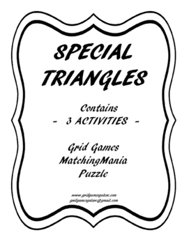 Special Triangles 3 Activity Pack