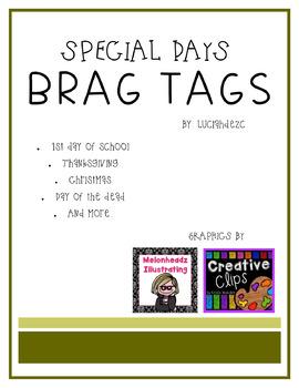 Special days BRAG TAGS