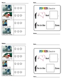 Special ed/small group  visual point sheet with zones check in