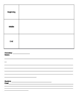 Special education IEP goal data collection packet