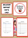 Special education IEP  inclusion support logs for paraprof
