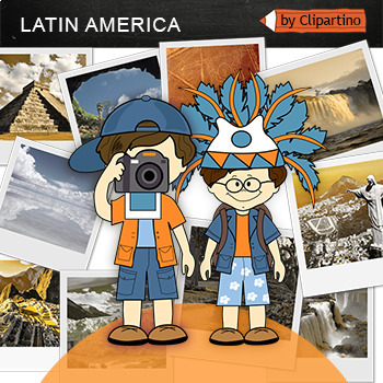 Central & Latin America-Top 10 Tourist Places Clipart