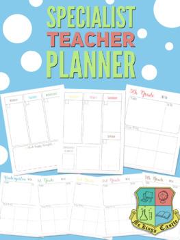 Specialist Teacher Planner (Technology, Music, Art, PE, Library, Spanish, STEM)