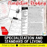 Specialization and Standard of Living Reading & Writing Ac