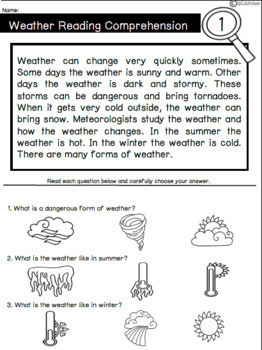 Specialized Science: Weather