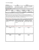 Specially Design instruction Lesson plan Template.