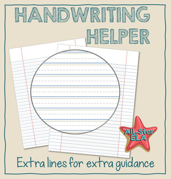Specially Lined Paper for Handwriting - Dysgraphia Accommodation