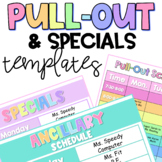 Specials/Ancillary & Pull Outs Schedule EDITABLE