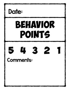 Specials Behavior Points