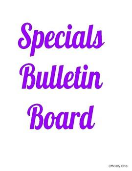 Specials Bulletin Board
