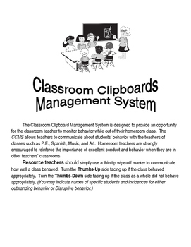 Specials Class Clipboard Behavior Sign Overview