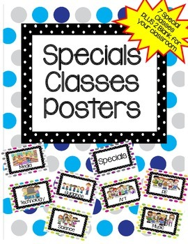 Specials Classes Posters-Free! Cute pictures with polka-dot backgrounds