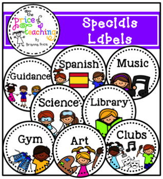 Specials Labels The Price Of Teaching Clipart Set