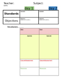 Specials Lesson Planner (Two lessons/week)