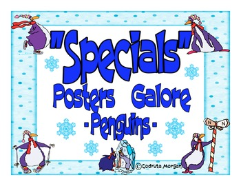 Specials Posters Galore - Penguins Theme