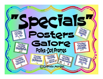 Specials Posters Galore - Polka-Dot Frames