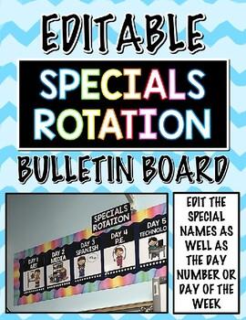 Specials Rotation Bulletin Board