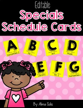 Specials Schedule Cards (Editable)