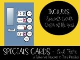 Specials Schedule Cards - OWL Theme
