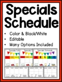 Specials Schedule *Editable*