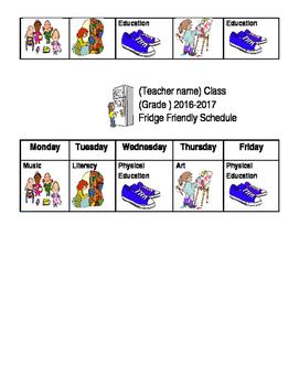 Specials Schedule- Fridge Friendly