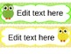 Specials Schedule Tags {Owl Theme!} {Editable!}