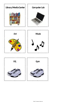 Specials Schedule - With Clipart - Lime & Teal - Detachable Pics Revision
