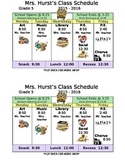 Specials Schedule for the Refrigerator