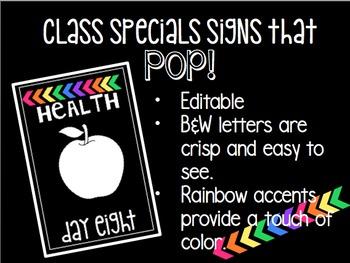 Specials Signs that POP!