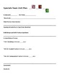 Specials Teacher Unit Plan (P.E., Music, & Art)