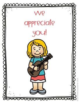 Specials Teachers Appreciation Booklets