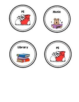 Specials (art, music, PE, library) Calendar!! FREEBIE!!