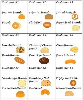 VOCATIONAL TASK Bread Orders