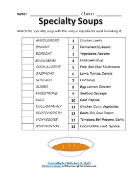 Specialty Soups - Foods and Nutrition 101