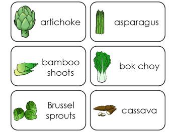 Specialty Vegetable Printable Flashcards. Preschool- Kindergarten Math.