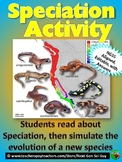 Speciation Activity:  Read About & Simulate Evolution of a New Species - NGSS