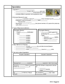 Speciation Guided Notes