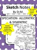 Speciation Sketch Notes-Allopatric & Sympatric W/Tcher Gui
