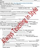 Speciation Video Worksheet (Editable)