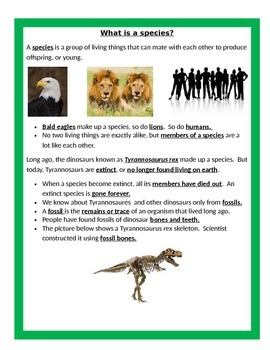 Species UNIT BUNDLE - 4th Grade Science