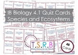 Species and Ecosystems (IB Bio 4.1)