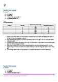 Specific Heat Capacity Calculations, 10 easy, 10 medium,10 hard. Inc Answers